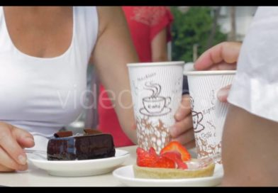 People Eating Desserts And Drinking Coffee – Stock Footage | VideoHive 16309503